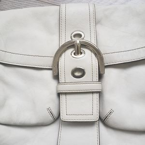 Coach Bags - COACH white leather shoulder purse